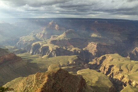 Eroded landscape in the Grand Canyon National Park south rim, United States