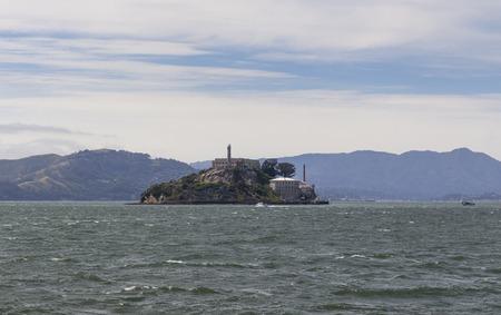 Alcatraz island old prison in San Francisco bay, USA
