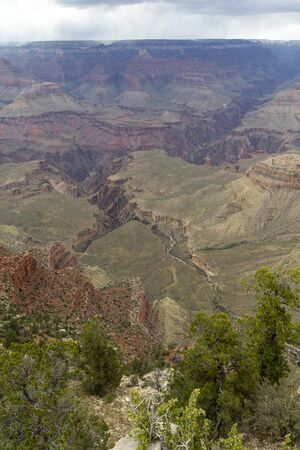View from south rim in the Grand Canyon National Park, United States Stockfoto
