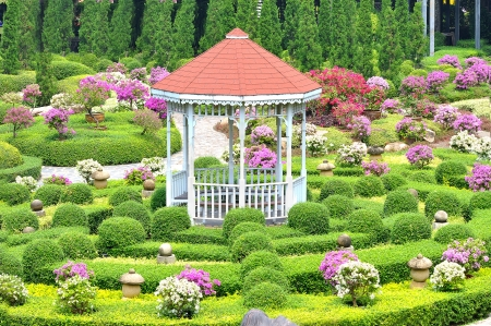 Pavilion in garden Stock Photo - 15623603