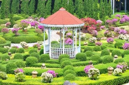 Pavilion in garden Stock Photo - 15623603