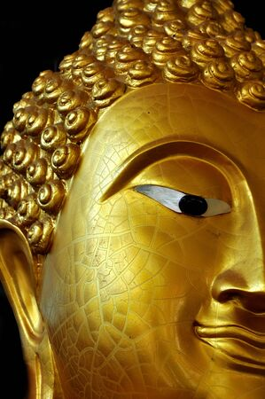 Buddha s face in temple of thailand  photo
