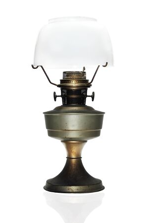vintage wind up gas lamp isolate on white  Stock Photo - 15787201