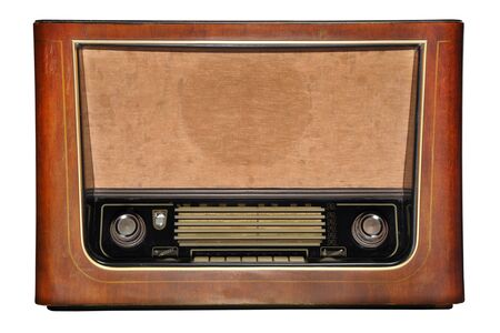 vintage wooden radio  photo