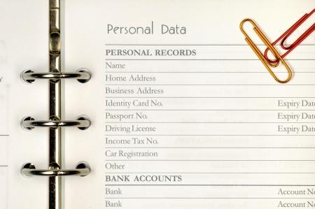 datos personales: Nota p�gina para formulario de datos personales