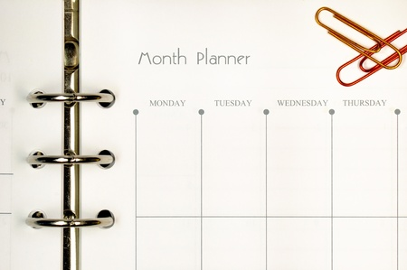 conspire: Note page for month planner form