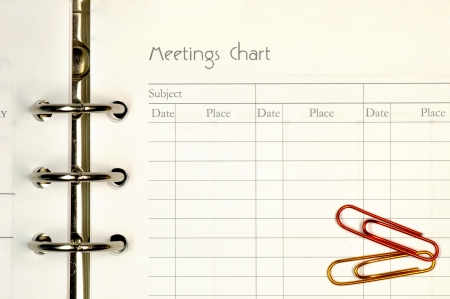 Note page for meeting chart form   Stock Photo - 15787498