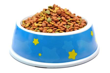 pet food: Pet food in bowl  Stock Photo