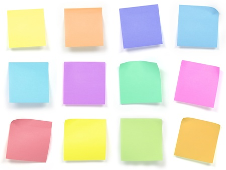 post it note: collection of colorful post it paper note