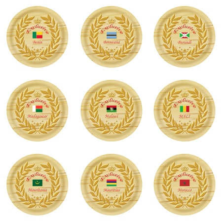 cachet: exclusive africa wooden badge collection 4