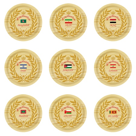 cachet: exclusive asia wooden badge collection 5