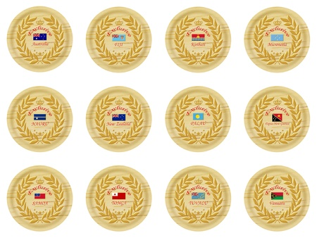 exclusive australia wooden badge collection  photo