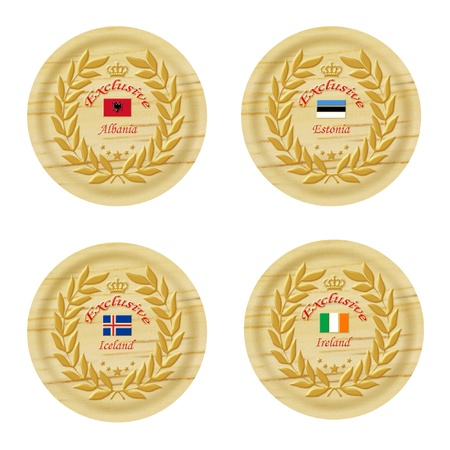 exclusive europe wooden badge collection 5  photo