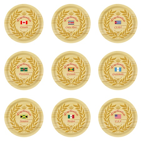 exclusive north america wooden badge collection 1  photo