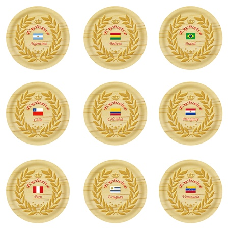 exclusive south america wooden badge collection 1 photo