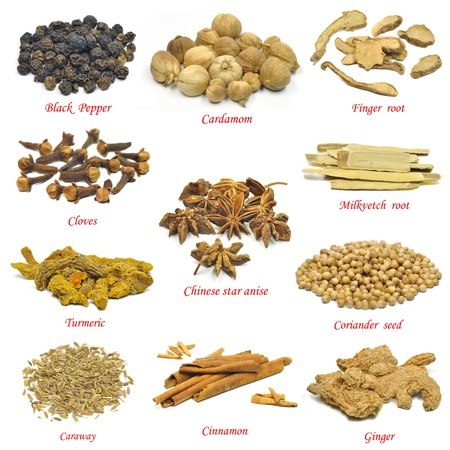 clove: collection of spices Stock Photo