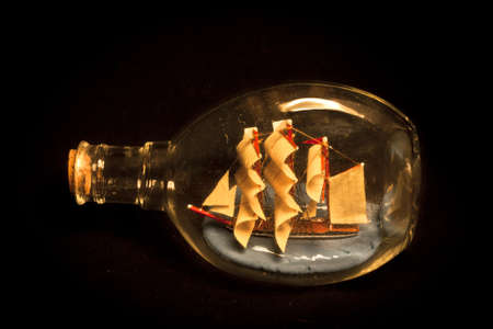 the ship in a bottle Stock Photo