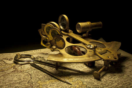 nautical sextant still life