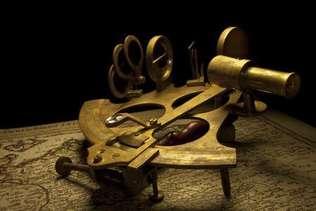nautical sextant still life