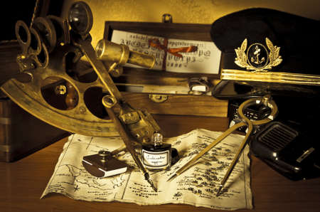 still life with seafarers objects