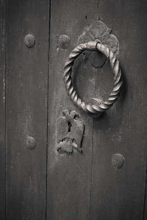 detail of a door lock