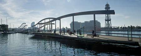 Bridge access to downtown barcelona maremagnum