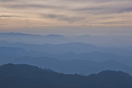 far mountains at sunset Stock Photo