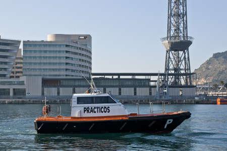 pilot boat in Barcelona
