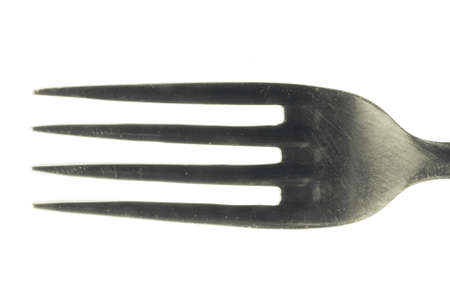 fork on white background