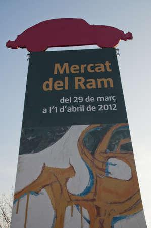 banner advertising the festival Mercat del Ram in Vic