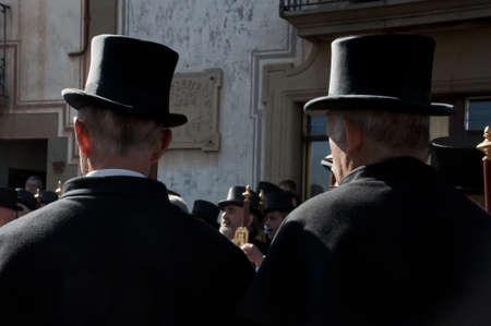 caramelles participants on Easter Sunday in Sant Julia de Vilatorrada, Spain