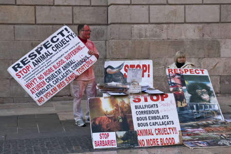 demonstration against animal abuse