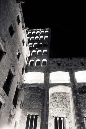 old building in the night photo