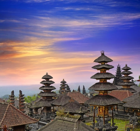 indonesia people: Pura Besakih - largest hindu temple of Bali, Indonesia