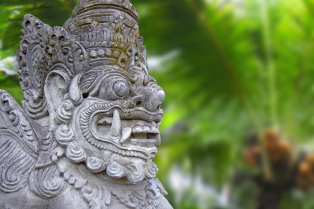 Decorated statue of traditional hindu god, Bali, Indonesia