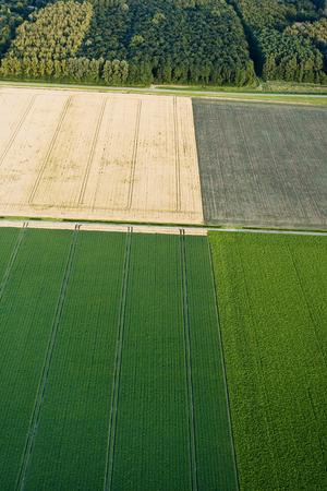 Luchtfotografie van het landschap van Noord-Holland; Luchtfotografie van het landschap van Noord-Holland Stockfoto