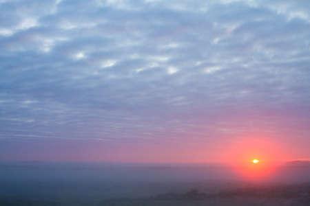 Landscape dunes of Berkheide at dawn in Katwijk, Netherlands. Nature image from Holland.