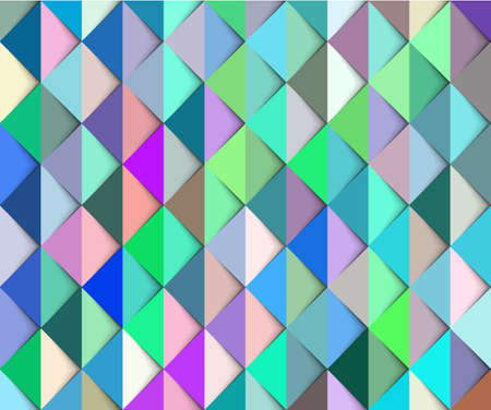 Abstract colorful green and blue background with shadows. Illustration