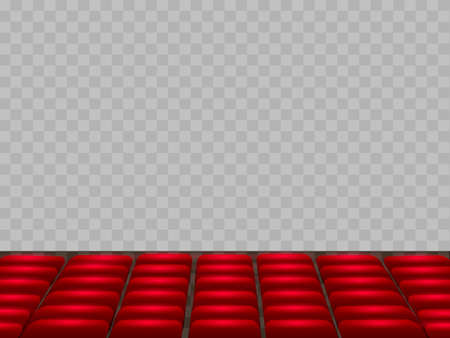 Vector illustration auditorium with empty seats isolated on transparent background Иллюстрация