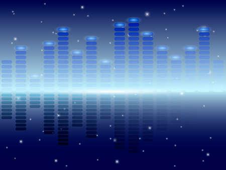 Music equalizer. Vector illustration. Illustration