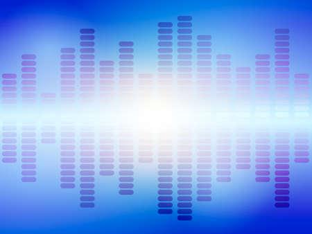 Music blue equalizer. Vector illustration.