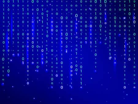 Matrix blue background. Vector illustration.