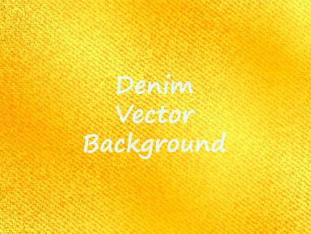 Golden jeans background. Vector illustration.