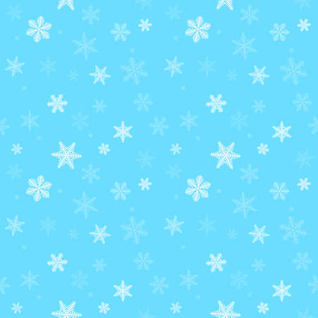 Snowflakes on blue background. Seamless pattern. Vector illustration