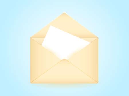Beige envelope. Vector illustration Illustration