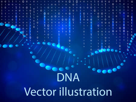 DNA background. Vector illustration