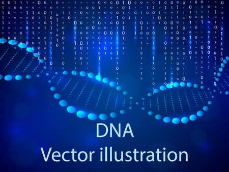 DNA background. Vector illustration