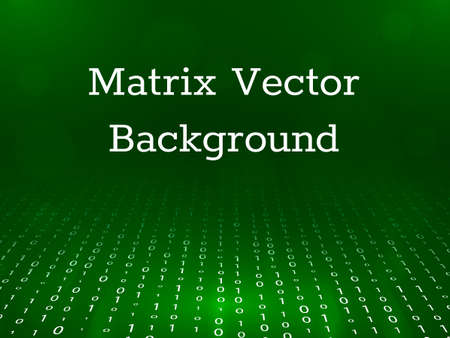 Matrix background in perspective. Vector illustration Illustration