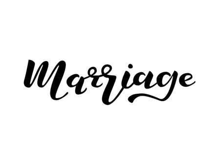 Marriage lettering. Vector illustration Illustration