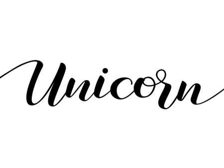 Unicorn lettering. Vector illustration